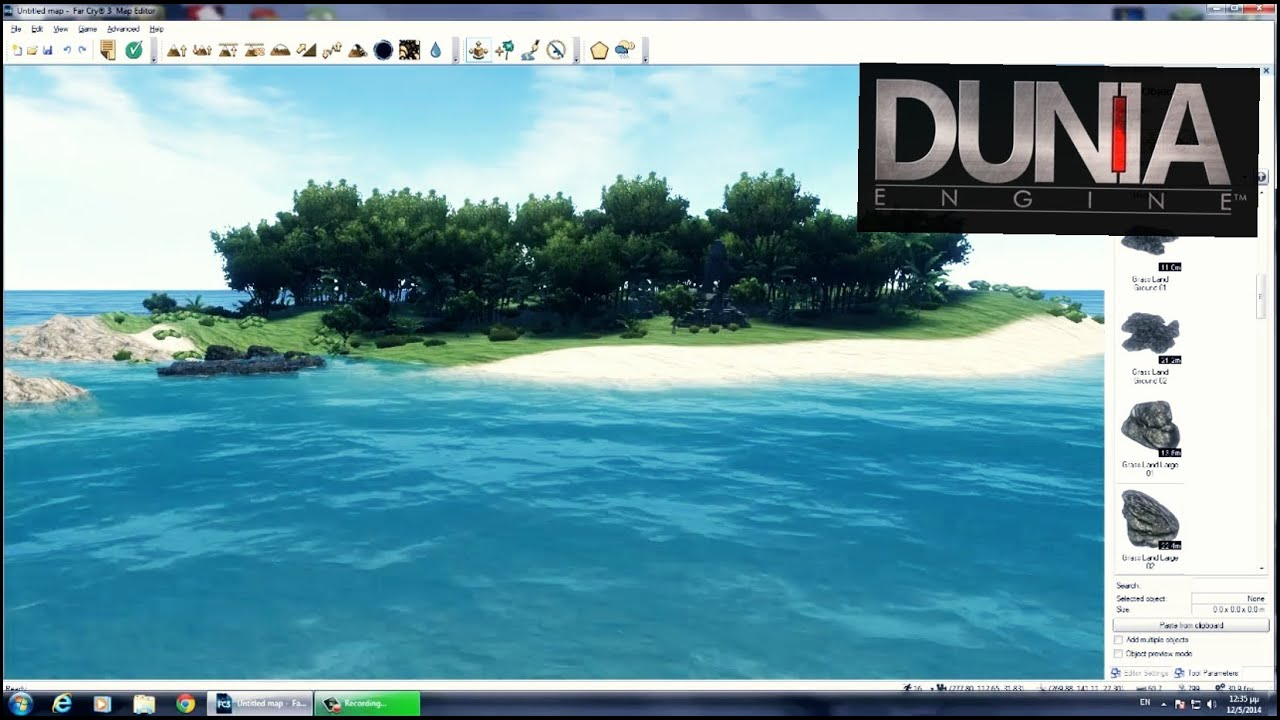 Make tropical island with Dunia Engine 2 - YouTube