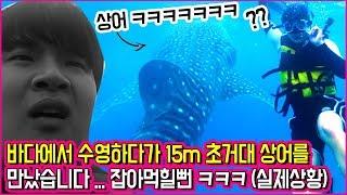 여자친구랑 바다 놀러갔다가 초거대 상어가 나타났습니다 ㅋㅋㅋㅋ 실화냐? ㅋㅋㅋㅋ  [ 01커플 세부여행 2편 ] 공대생 변승주