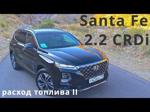 2018 Hyundai Santa Fe 2.2 CRDi, расход топлива II - КлаксонТВ
