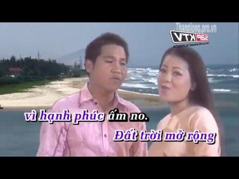 Duong Bon Mua Xuan - Karaoke hd  Anh Tho ft Trong Tan