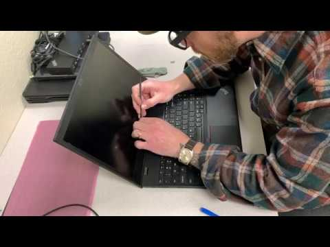 Laptop screen replacement / How to replace laptop screen Lenovo Thinkpad  T580 FHD
