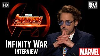 Robert Downey Jr. (Iron-Man) on listening to the fans for Avengers Infinity War - Interview