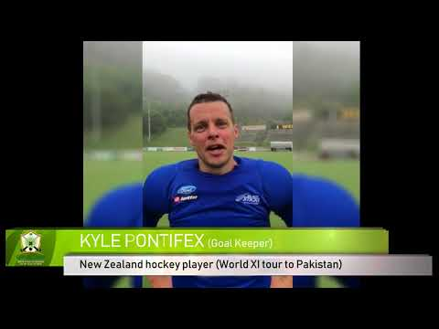 Kyle Pontifex Hockey World XI tour to Pakistan