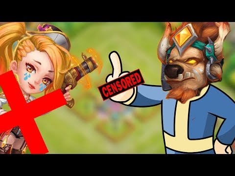Castle Clash : Minoing Anti Mino Bases In Gw | Doing GW With Mino For The First Time