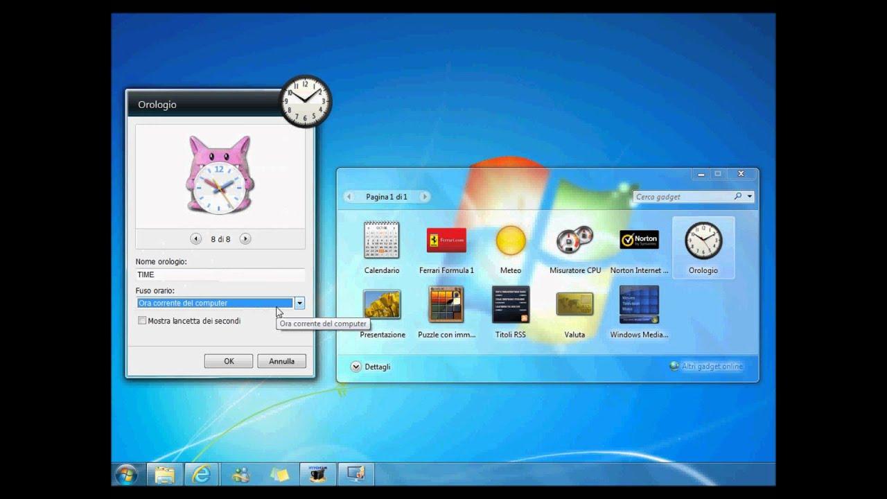 Gadget Calendario.Gadget Per Windows 7 Calendario Meteo E Orologio