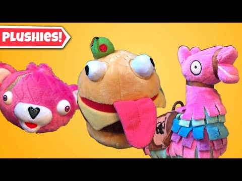 Official Fortnite Plushies Review! ( Durrr Burger, Cuddle Team Leader, And Loot Llama)