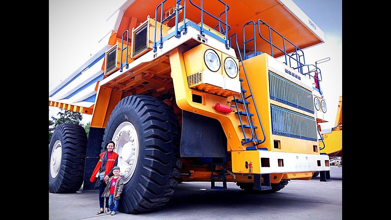 Самый большой самосвал в Мире БЕЛАЗ 450 тонн! Грузовые машинки belaz 75710 Спецтехника для детей!