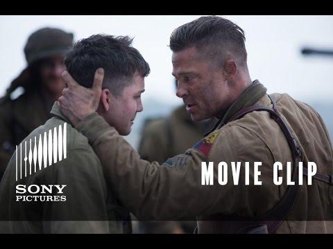 """FURY Movie Clip: """"I Cant Do It"""" - Brad Pitt & Logan Lerman"""