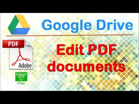 Edit PDF files in Google Drive