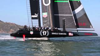 ORACLE TEAM USA AC72 - Progress and Evolution
