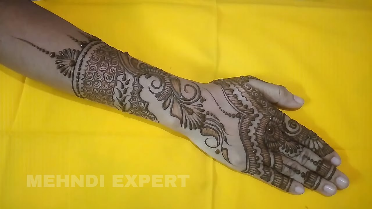Henna Or Mehndi : New indo arabic henna or mehndi design tutorial for hands all