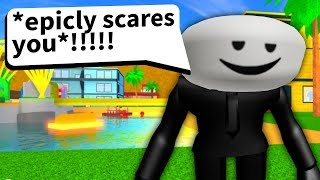Roblox game tries to be scary but it\'s REALLY BAD...
