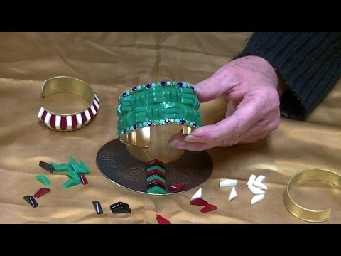 Jewelry Making Tutorial How to Embellish Brass Cuff Bracelet