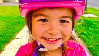 LEARN COLORS ❤️ Kazam Balance Bike ❤️ Learning to Ride a Bike ❤️ Family Review ❤️ Kinder Playtime
