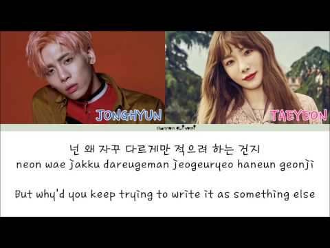Jonghyun(종현) - Lonely (ftn(태연)) Color Coded Lyrics [Han|Rom|Eng]