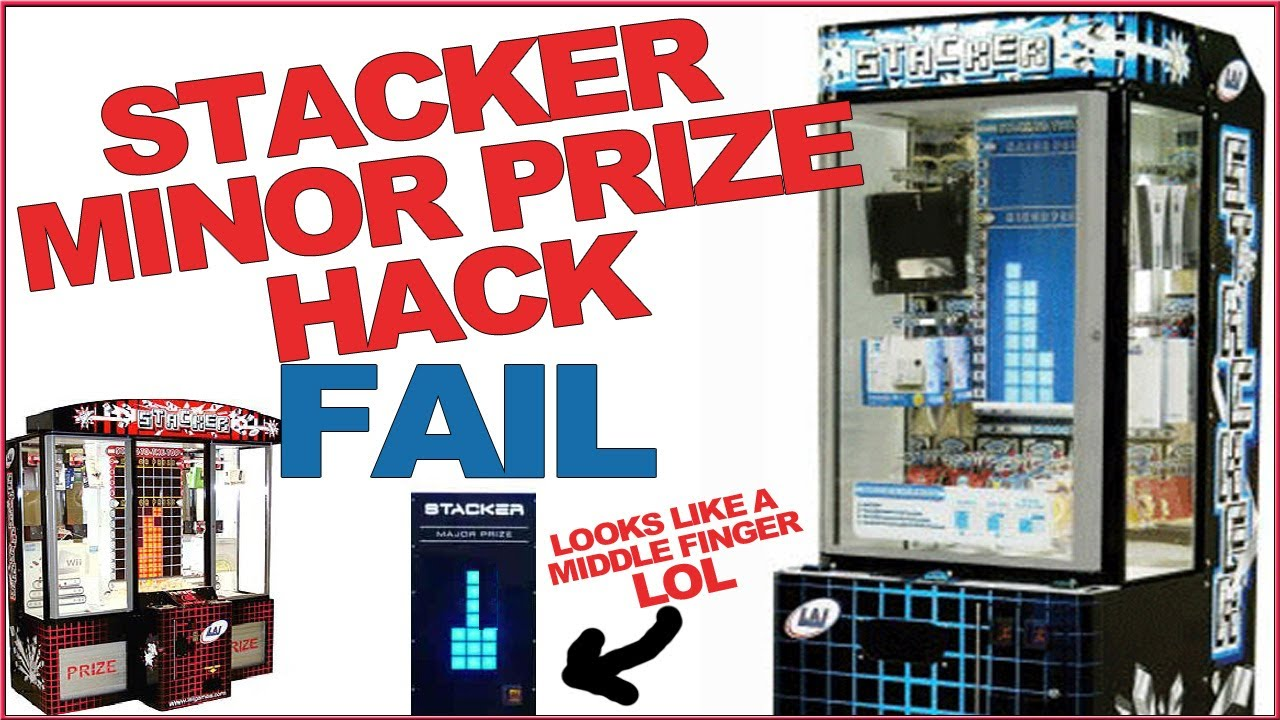 How 2 Hack Stacker Minor Prize Arcade Game Fail - YouTube