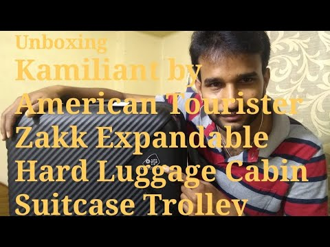 Unboxing Kamiliant by American Tourister Zakk Expandable Hard Luggage Cabin Suitcase Trolley