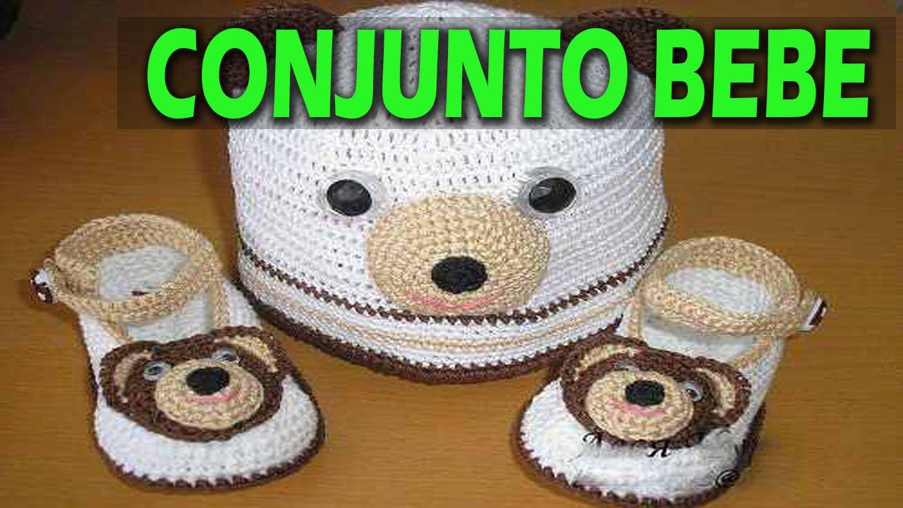Conjunto de bebe tejidos a crochet imagenes y dise os - Dibujos para sabanitas de bebe ...