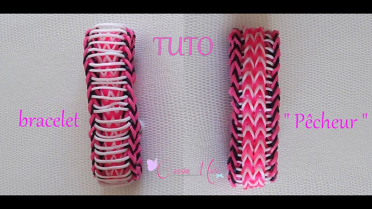 tuto bracelet p cheur en lastique rainbow loom youtube. Black Bedroom Furniture Sets. Home Design Ideas