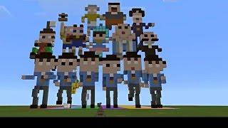 MinecraftとGaragebandでおそ松さんのOPを作ってみた【全力バタンキュー】