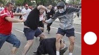 Euro : violentes bagarres entre hooligans polonais et supporteurs russes