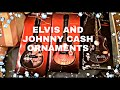 JOHNNY CASH AND ELVIS CLASSIC SINGING CHRISTMAS ORNAMENTS