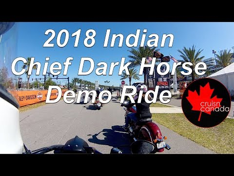 2018 Indian Chief Dark Horse Demo Ride - Daytona Bike Week