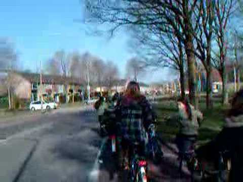 School bike trip. Assen, Netherlands (safe routes to school)