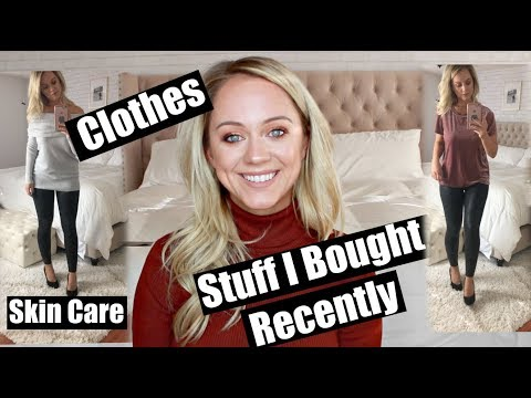 Stuff I Bought Recently | Try On Clothing, Skincare, Haircare