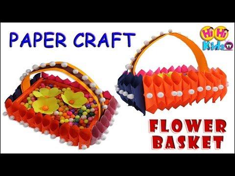 How to Make Paper Flower Basket | DIY Flower Basket | Origami Basket for Flowers