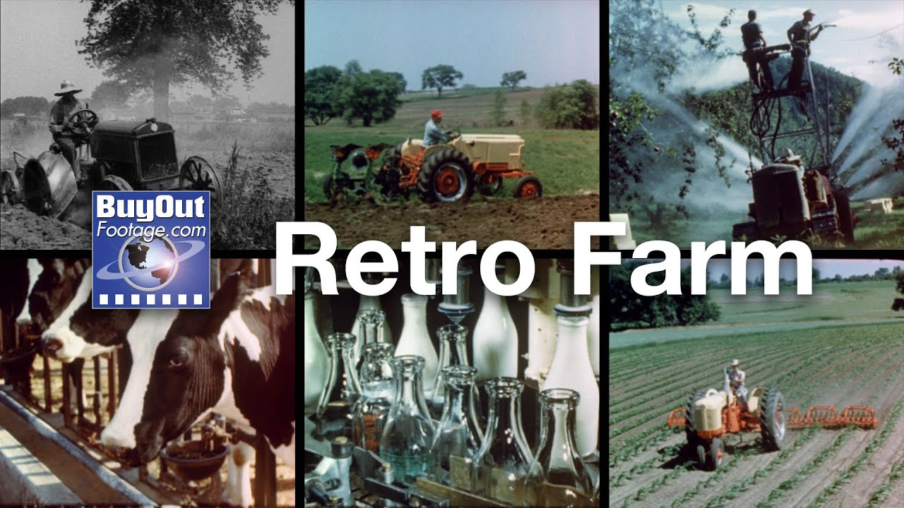 Retro Farm - Archival Stock Footage of Farming