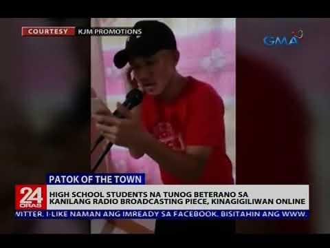 24 Oras: High school students na tunog beterano sa kanilang radio broadcasting piece, kinagiliwan