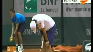 全仏オープン男子シングルス 錦織圭 1回戦敗退 2014/5/26 ハイライト