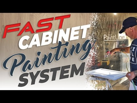 FAST Cabinet Painting...  AMAZING Drying and Spraying System!