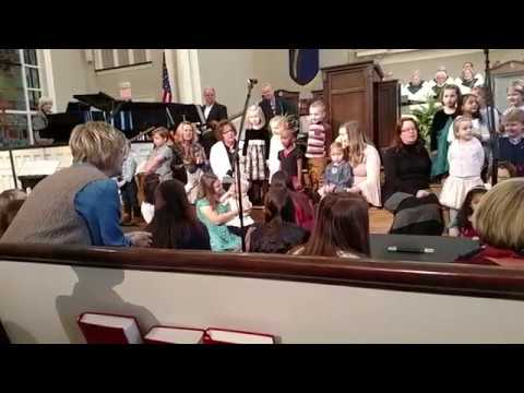 "Viewmont Baptist Preschool Tree of Learning Sings ""A Gift to You"""