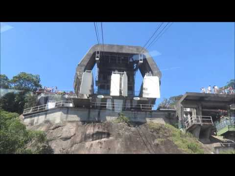 Sugar Loaf Mountain Rio de Janeiro Brazil Cable Car Ride Up Part 1