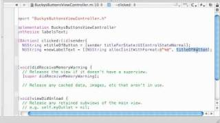 iPhone Development Tutorial - 5 - Oh Yea, Coding the Action Methods