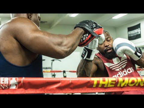 Prep for my pro debut at Mayweather Boxing Club