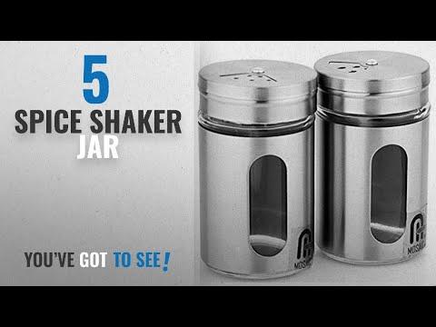 Top 10 Spice Shaker Jar [2018]: Mosaic® Salt & Pepper Shaker Spice Holder Condiment Set Set of