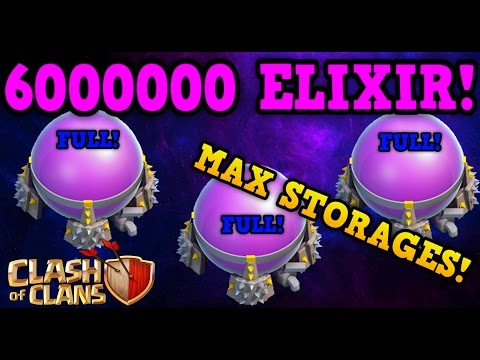 Clash of Clans: 6 MILLION ELIXIR! - FULL MAXED STORAGES! (TH8)