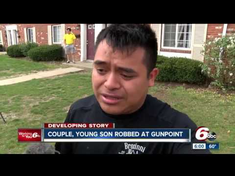 Indianapolis couple, young son robbed at gunpoint on city's south side