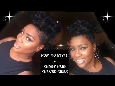 HOW TO: STYLE SHORT HAIR WITH SHAVED SIDES TUTORIAL