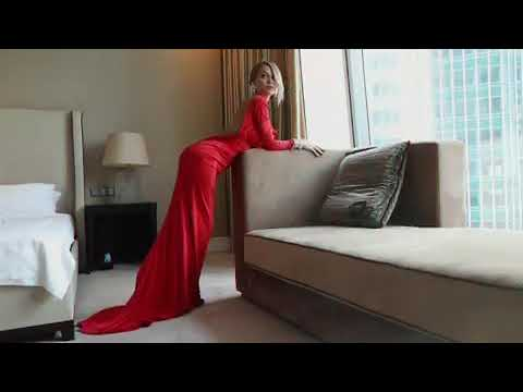 Сексуальная Анна Хилькевич в красном платье 5