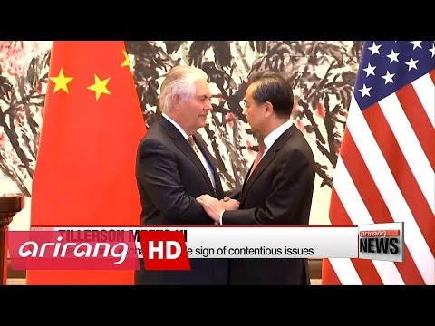 U.S. Secretary of State Rex Tillerson meets Chinese president to strengthen ties