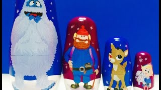 Rudolph The Red Nosed Reindeer Nesting Matryoshka Dolls Toy Unboxing