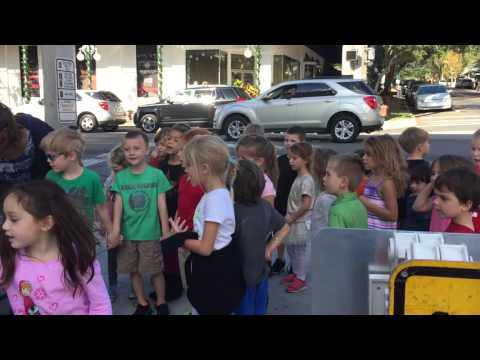 Montessori at Roseborough children Caroling in Downtown Mount Dora