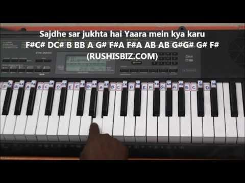 Tu hi to jannat meri (Piano Tutorials) - (Gamakas Included) | Rab Ne Bana Di Jodi