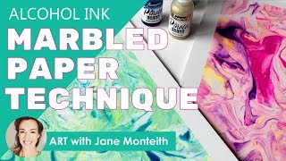 Alcohol Ink Marbled Texture Papers