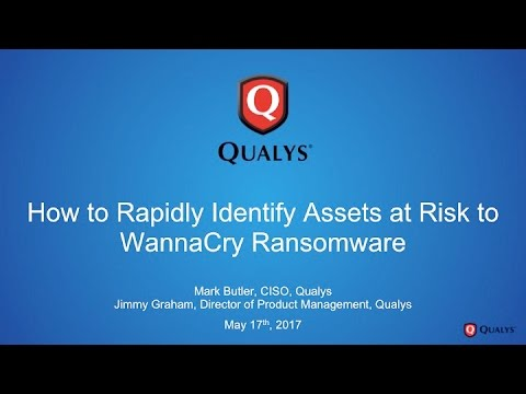 How to Rapidly Identify Assets at Risk to WannaCry Ransomware