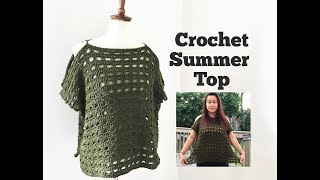 How to Crochet Easy Summer Top
